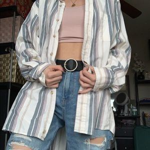 vintage button up long sleeve
